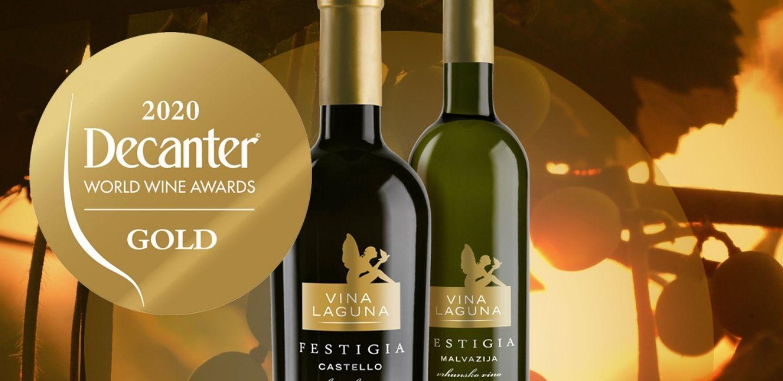 Vina Laguna osvojila dva zlata na prestižnom natjecanju u Londonu Malvazija Festigia i Castello Festigia zlatni na Decanteru